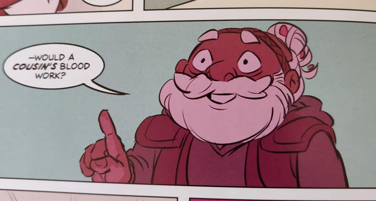 """Merle from Adventure Zone graphic novel: """"Here There Be Gerblins"""""""